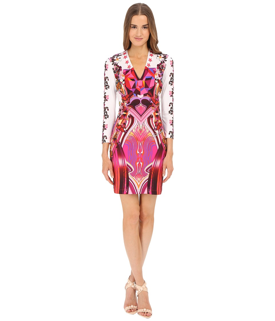 Just Cavalli - Leo Rock Long Sleeve Jersey (Fuchsia) Women's Dress