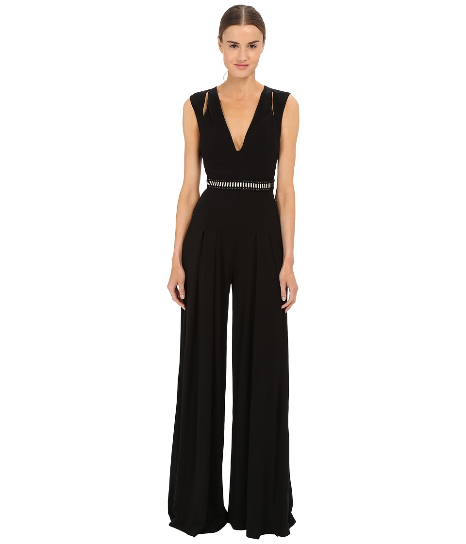 Just Cavalli - Solid Jersey T-Back Jumpsuit (Black) Women's Jumpsuit & Rompers One Piece