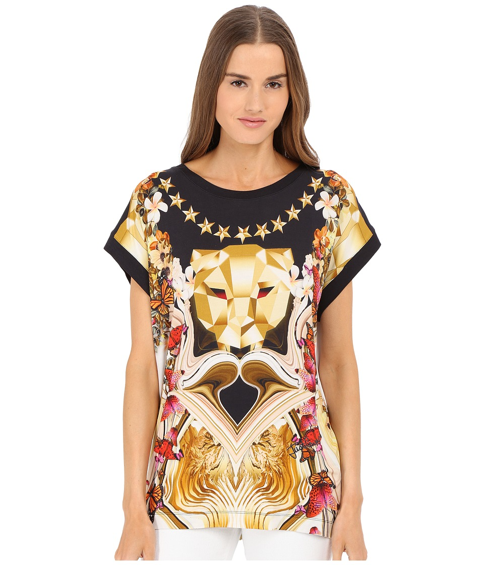 Just Cavalli - Leo Rock Boyfriend Tee (Black) Women's T Shirt