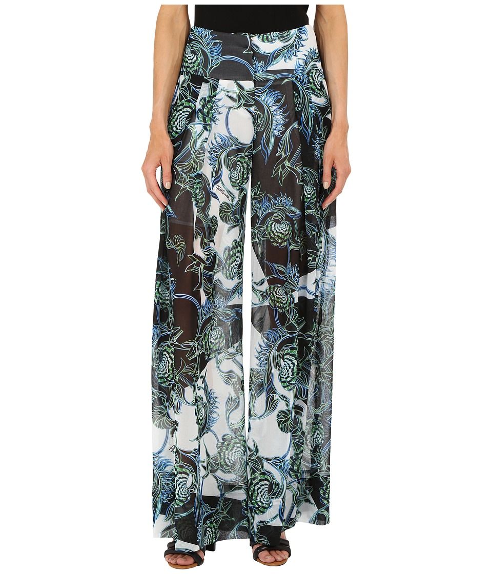Just Cavalli - Ikebana Ray Chiffon Samurai Pants (Absinth) Women's Casual Pants