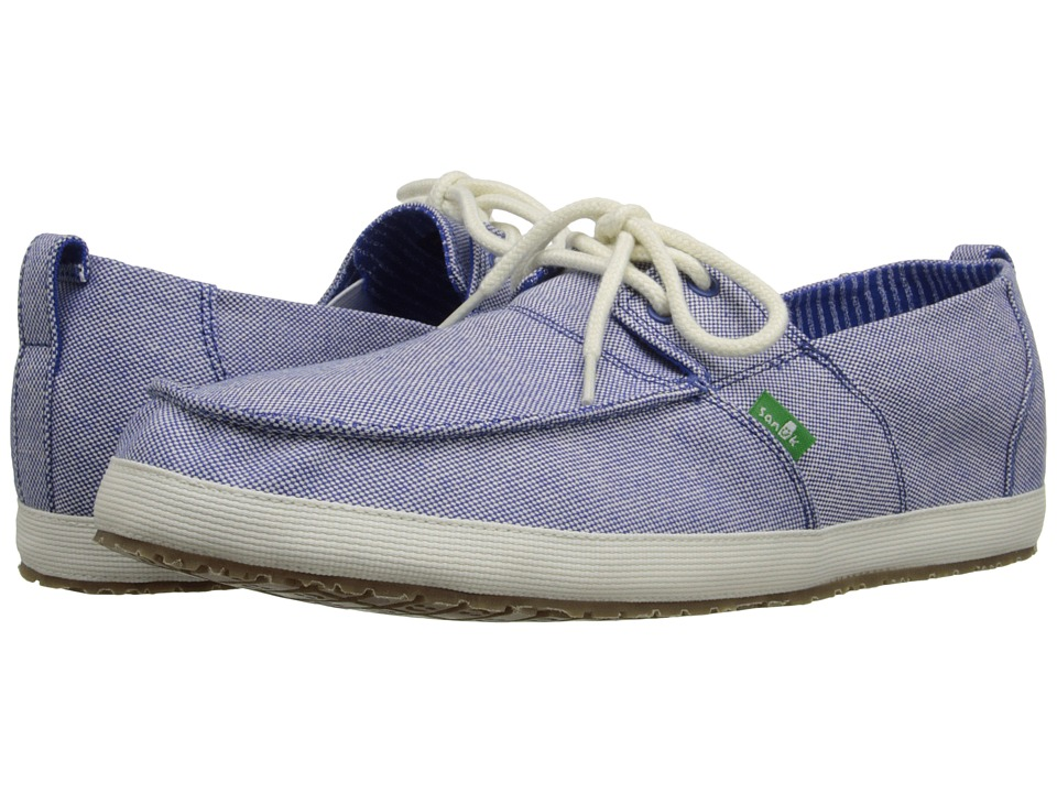 Sanuk - Admiral TX (Blue/Natural) Men's Slip on Shoes