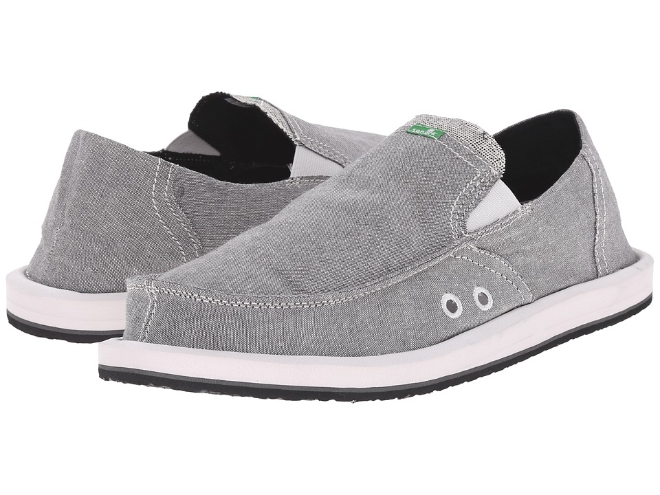 Sanuk - Pick Pocket TX (Grey Chambray) Men's Slip on Shoes