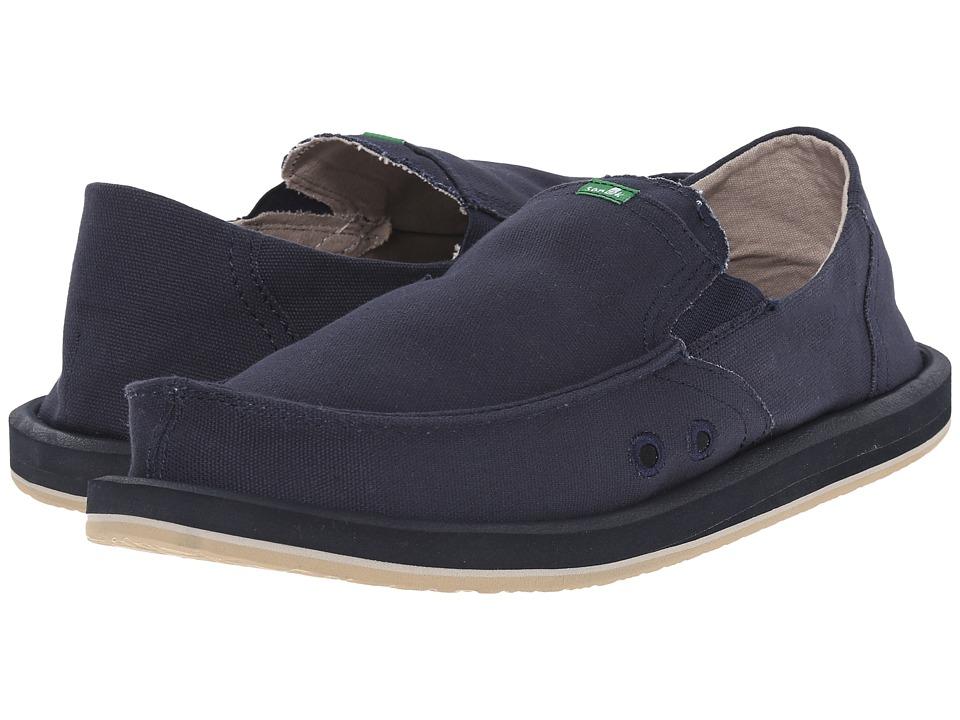 Sanuk - Pick Pocket (Navy) Men's Slip on Shoes