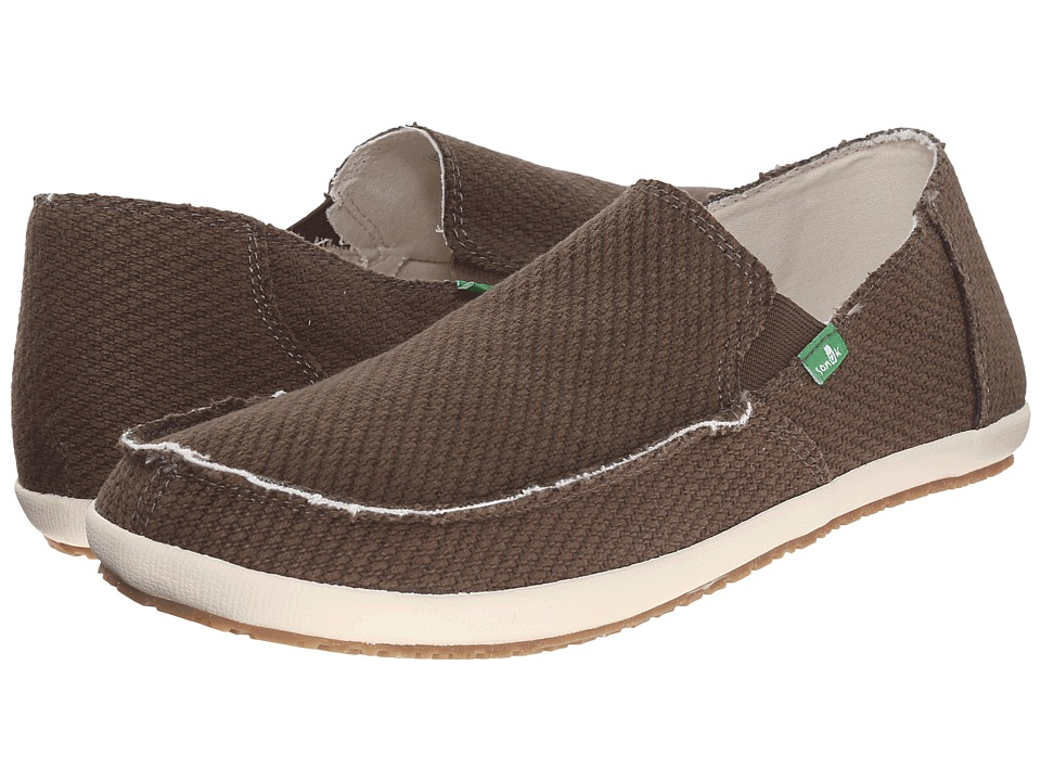 Sanuk - Rounder Hobo Hemp (Brown Hemp) Men's Slip on Shoes