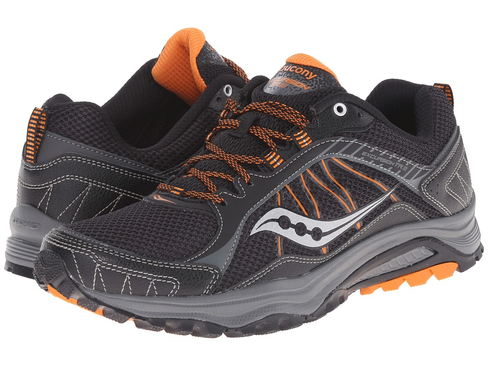 Saucony - Grid Excursion TR9 (Black/Orange) Men's Running Shoes
