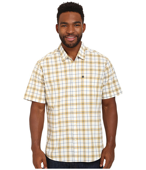 Quiksilver - Everyday Check Woven Top (Golden Spice) Men's Clothing