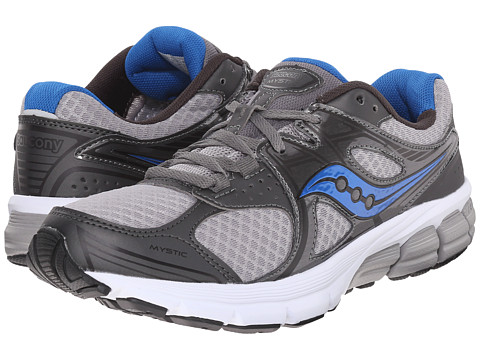 Saucony - Mystic (Grey/Royal) Men's Running Shoes