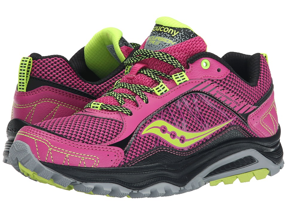 Saucony - Excursion TR9 (Pink/Black/Citron) Women's Running Shoes