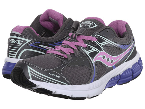 Saucony - Mystic (Grey/Violet/Blue) Women's Running Shoes