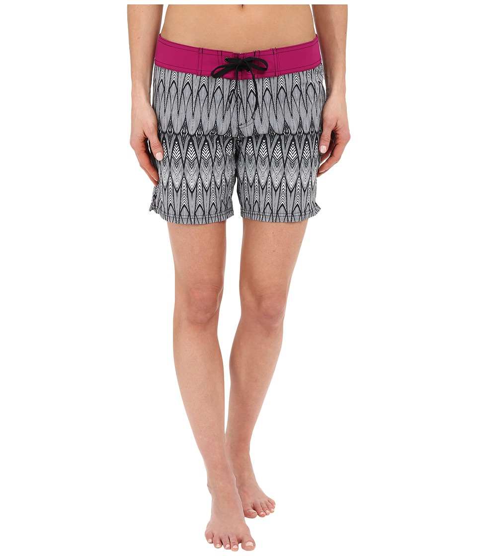 Prana - Makenna Board Short (Black Feather) Women's Swimwear