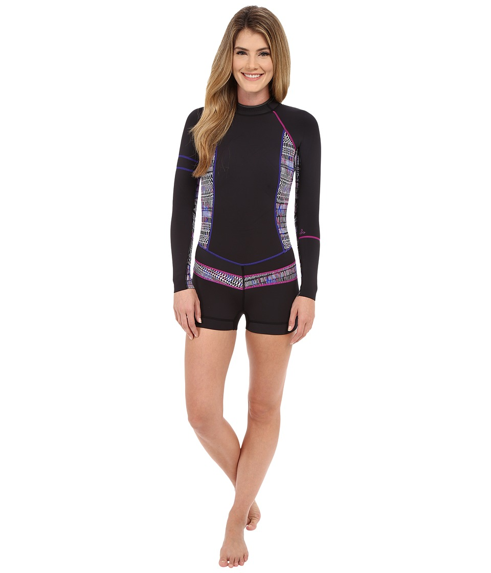 Prana - Azura Shortie (Black Driftwood) Women's Wetsuits One Piece