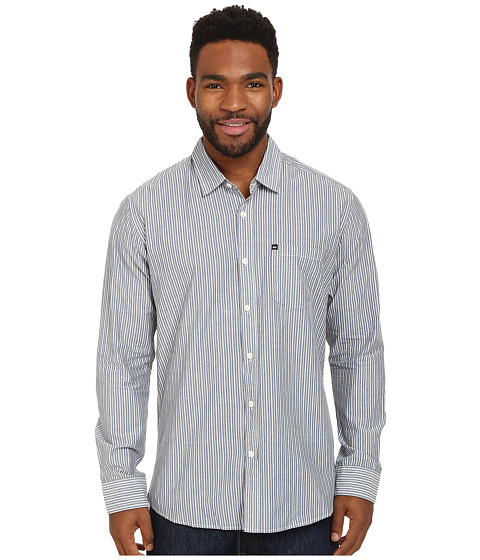 Quiksilver - Everyday Stripe Woven Top (Dark Denim) Men's Clothing
