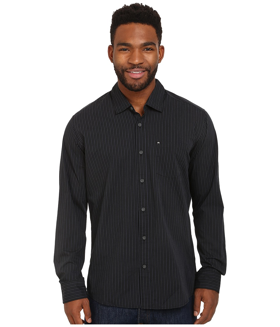 Quiksilver - Everyday Stripe Woven Top (Anthracite) Men's Clothing