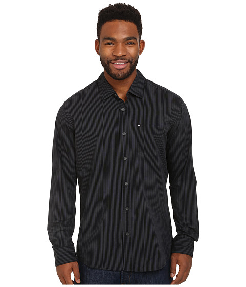 Quiksilver - Everyday Stripe Woven Top (Anthracite) Men