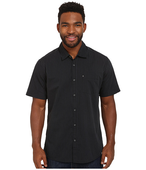 Quiksilver - Everyday Stripe Woven Top (Anthracite 2) Men's Clothing