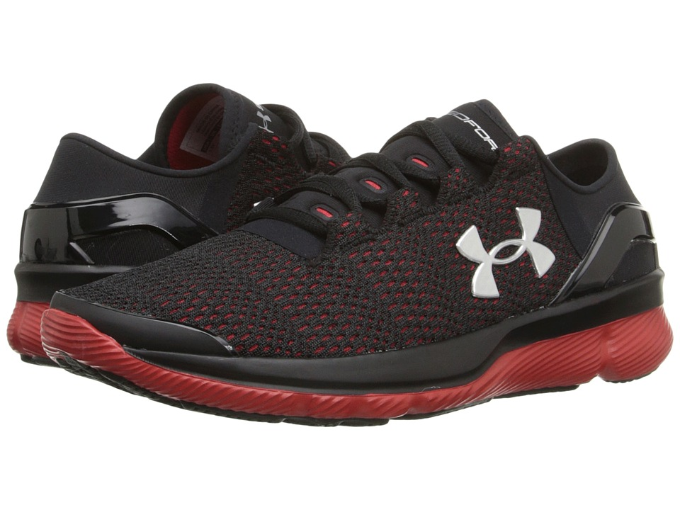 Under Armour Kids - UA BGS Speedformtm Apollo 2 (Big Kid) (Black/Red/Metallic Silver) Boys Shoes