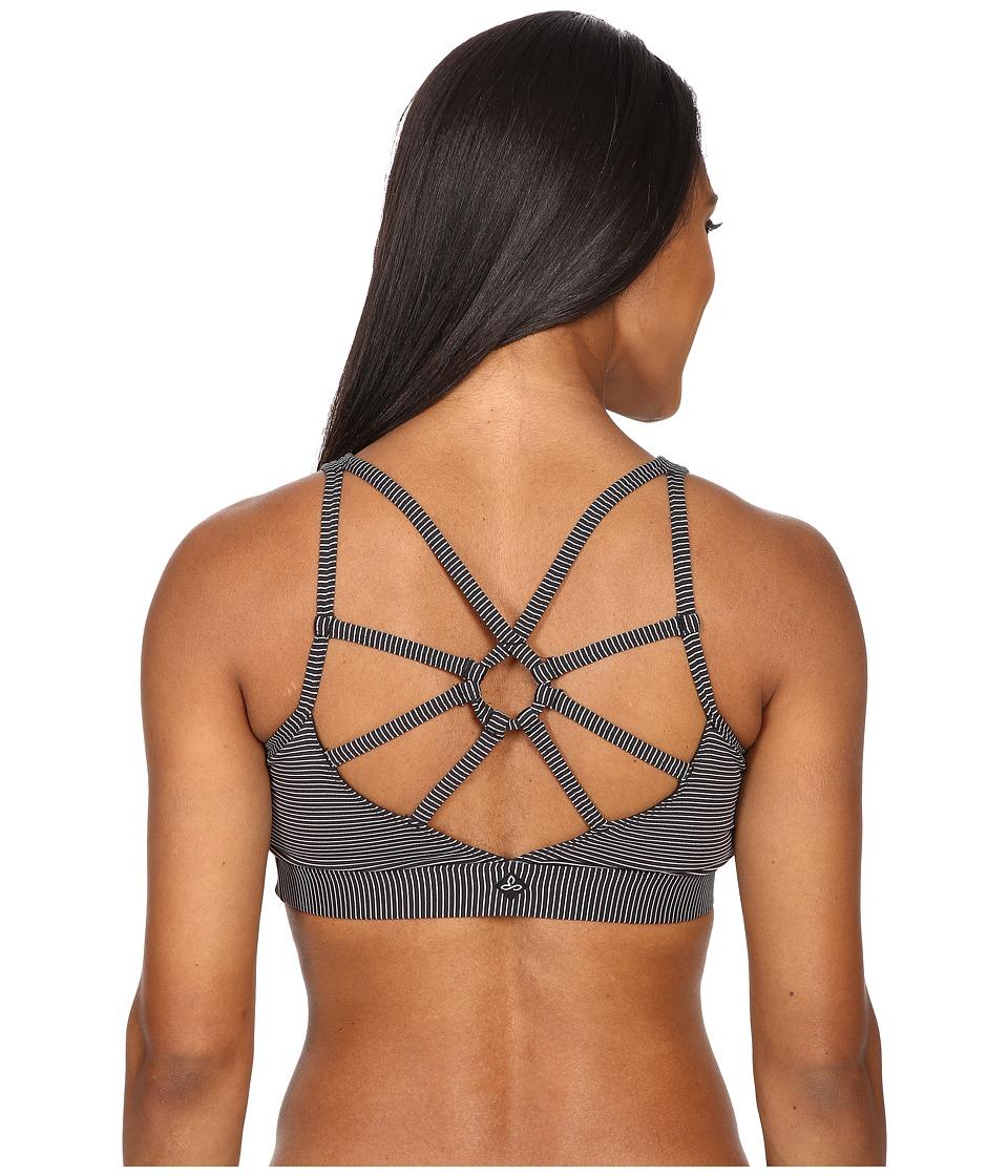 Prana - Dreaming Bra (Black Pinstripe) Women's Bra