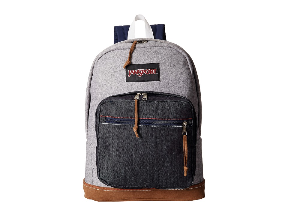 JanSport - Right Pack Expressions (Grey Varsity Felt) Backpack Bags