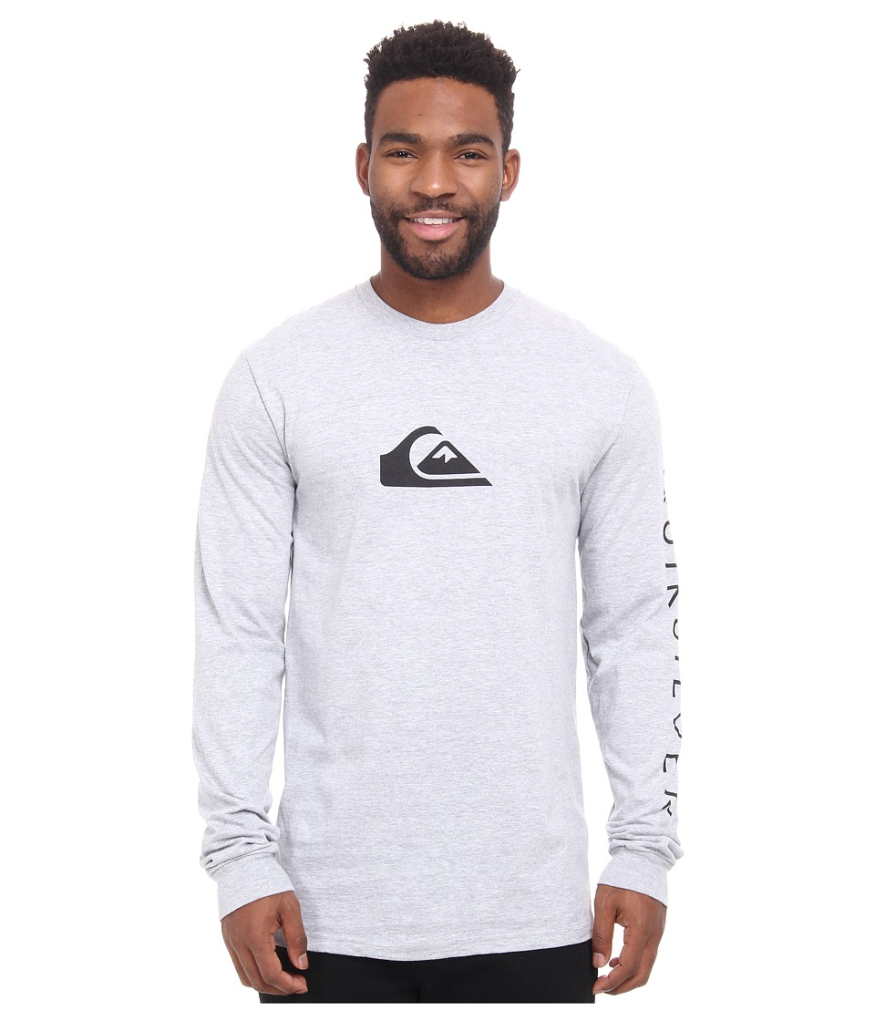 Quiksilver - Logo Long Sleeve Tee (Athletic Heather) Men
