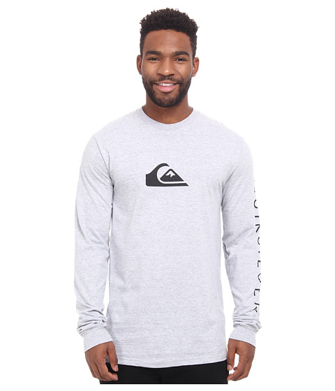 Quiksilver - Logo Long Sleeve Tee (Athletic Heather) Men's T Shirt