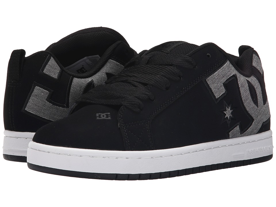 DC - Court Graffik SE (Black Dark Used) Men's Skate Shoes