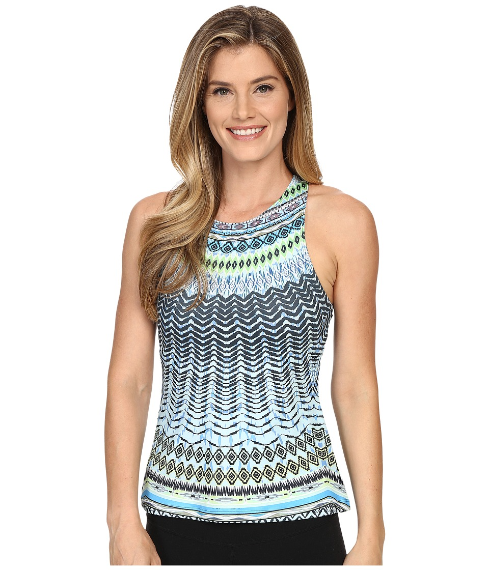Prana - Boost Printed Top (Blue Sol) Women's Sleeveless