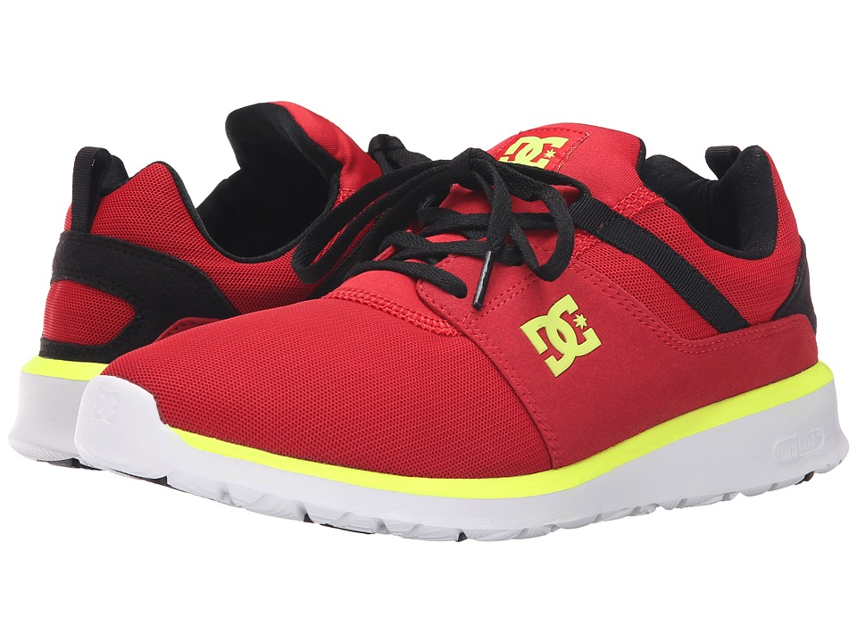 DC - Heathrow (Black/Red/Yellow Highlight) Skate Shoes