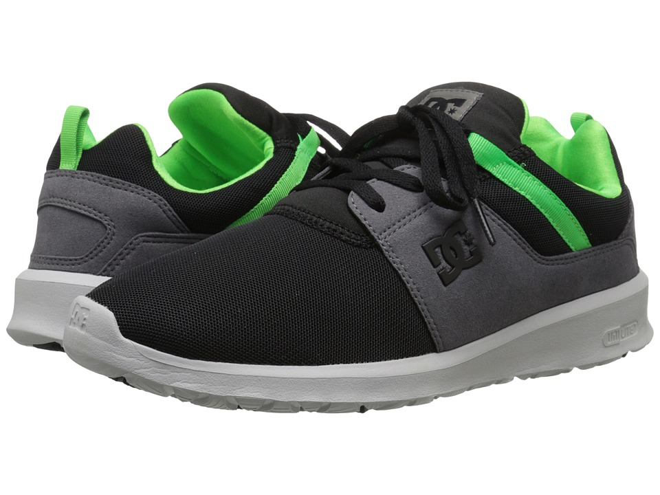 DC - Heathrow (Black/Grey/Green) Skate Shoes