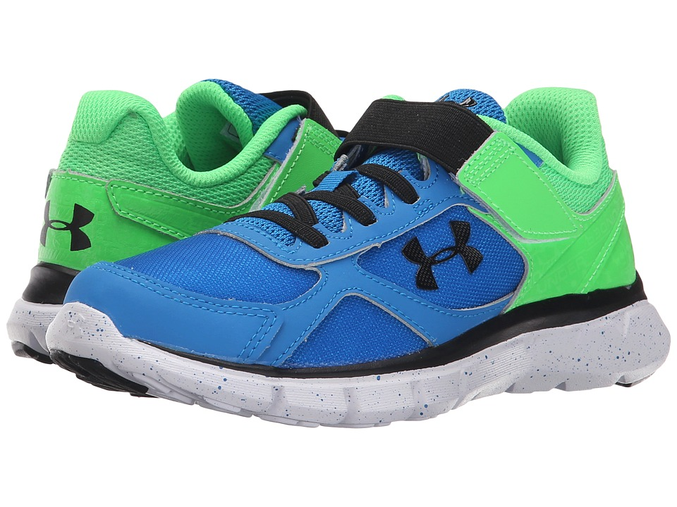 Under Armour Kids - UA BPS Velocity RN GR AC (Little Kid) (Snorkel/Laser Green/Black) Boys Shoes