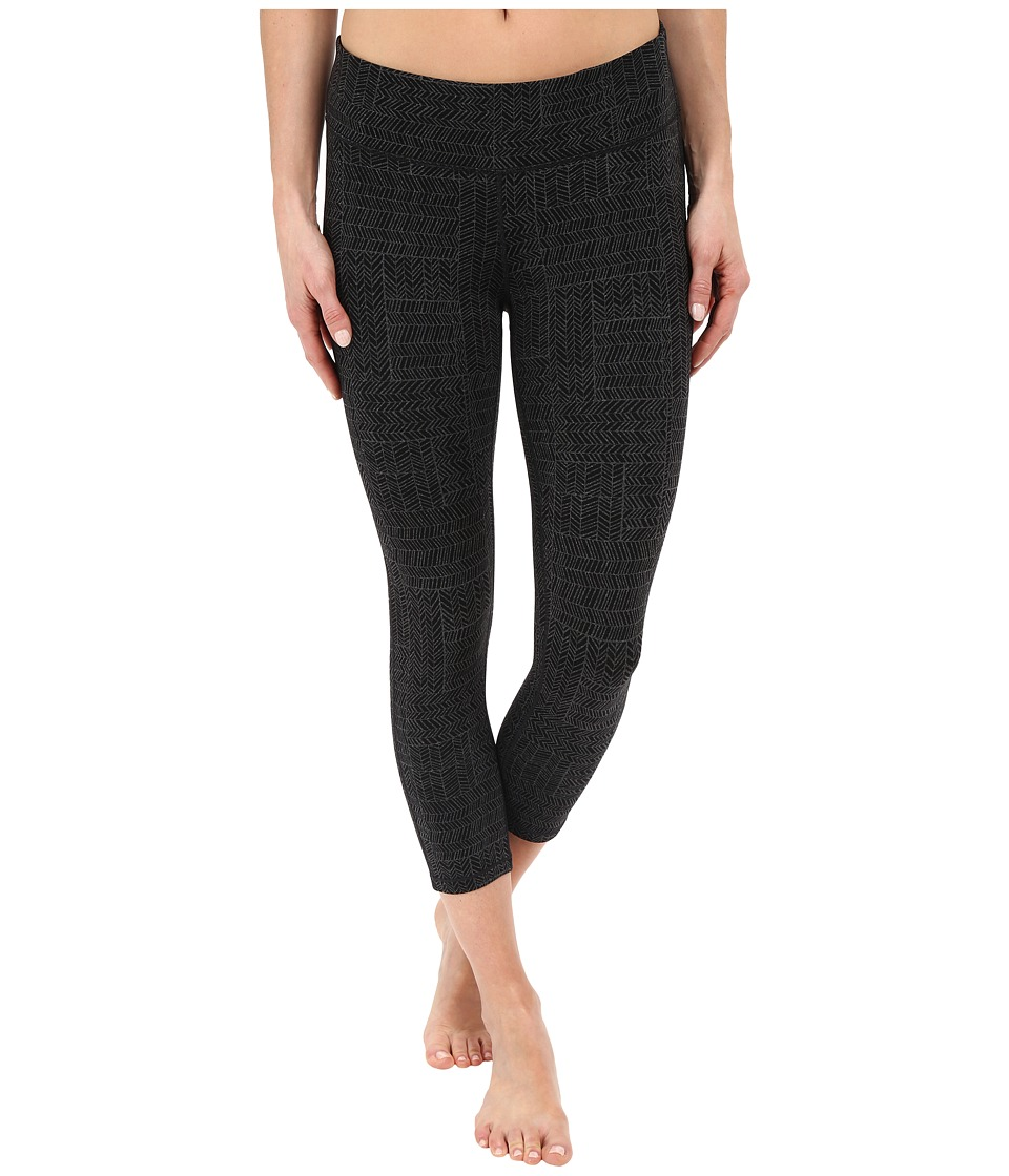 Prana - Ashley Capri Legging (Black Geo) Women's Capri