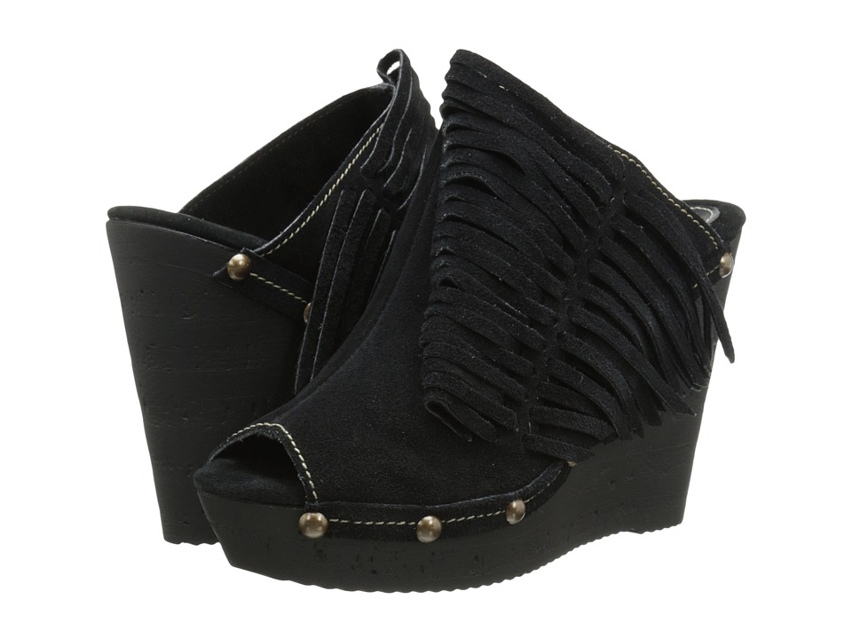 Sbicca - Pitch (Black) Women's Wedge Shoes