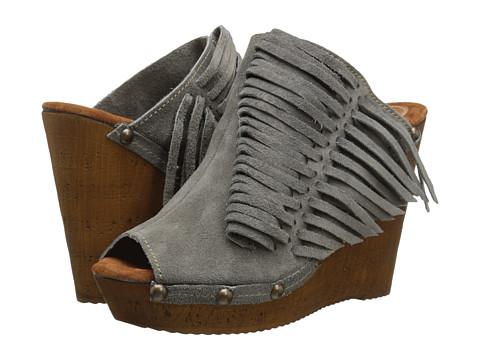 Sbicca - Pitch (Grey) Women's Wedge Shoes