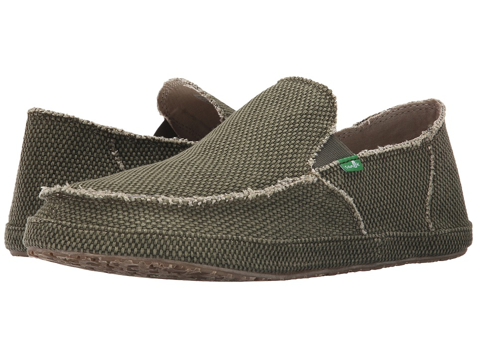 Sanuk - Rounder (Olive) Men's Slip on Shoes