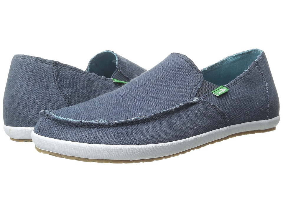 Sanuk - Rounder Hobo (Dark Navy) Men's Slip on Shoes