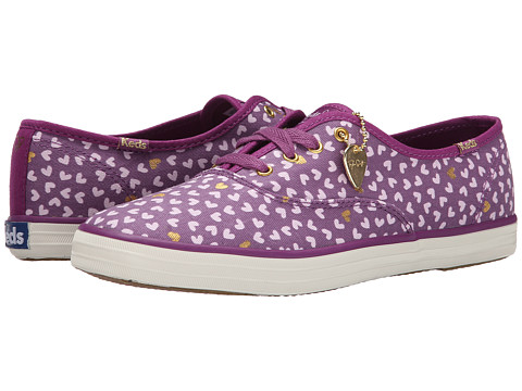 Keds - Taylor Swift's Champion Metallic Hearts (Violet) Women's Lace up casual Shoes