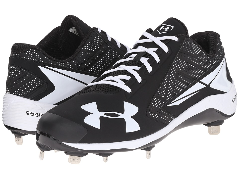 Under Armour - UA Yard Low ST (Black/White) Men's Cleated Shoes