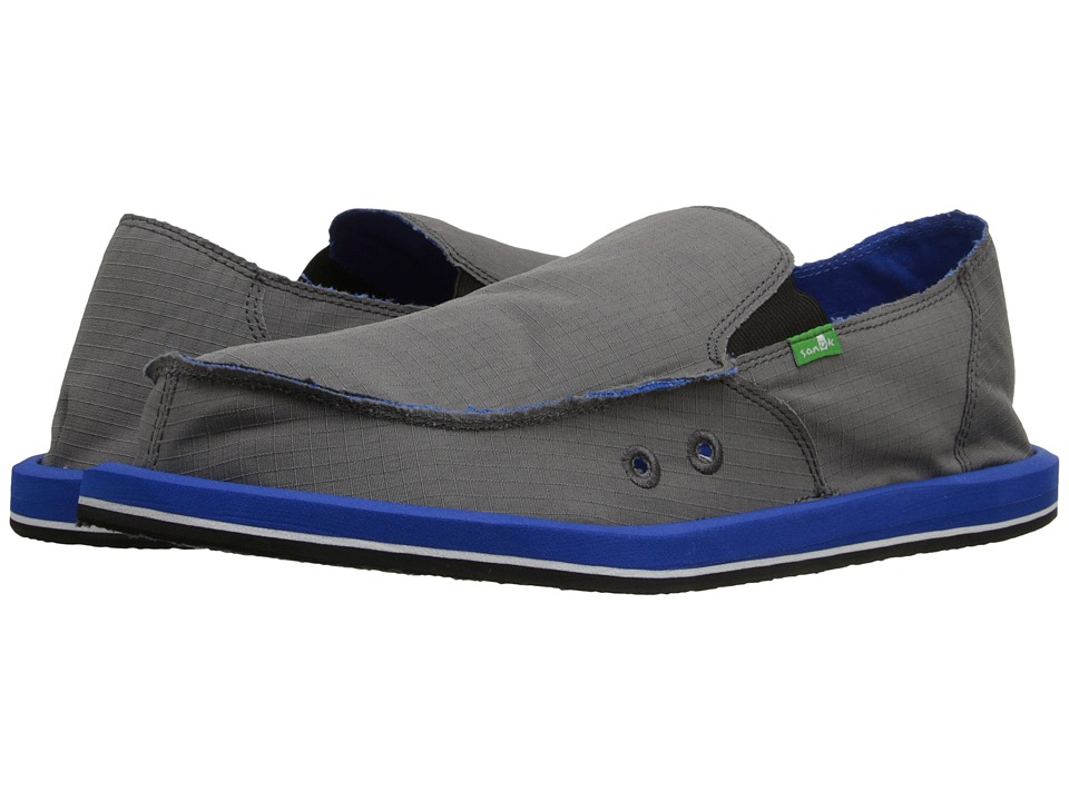 Sanuk - Vagabond Nights (Charcoal/Royal) Men's Slip on Shoes