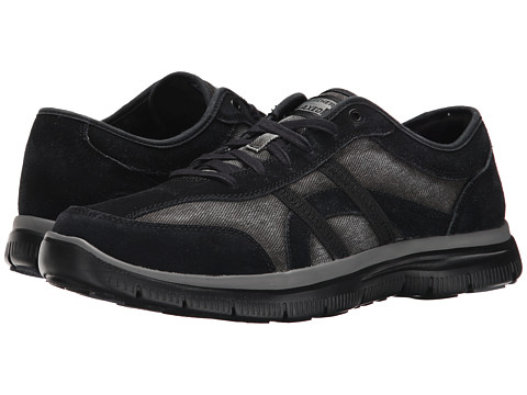 SKECHERS - Hinton Destro (Black) Men's Lace up casual Shoes