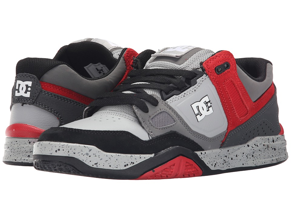 DC - Stag 2 (Grey/Grey/Red) Men's Skate Shoes