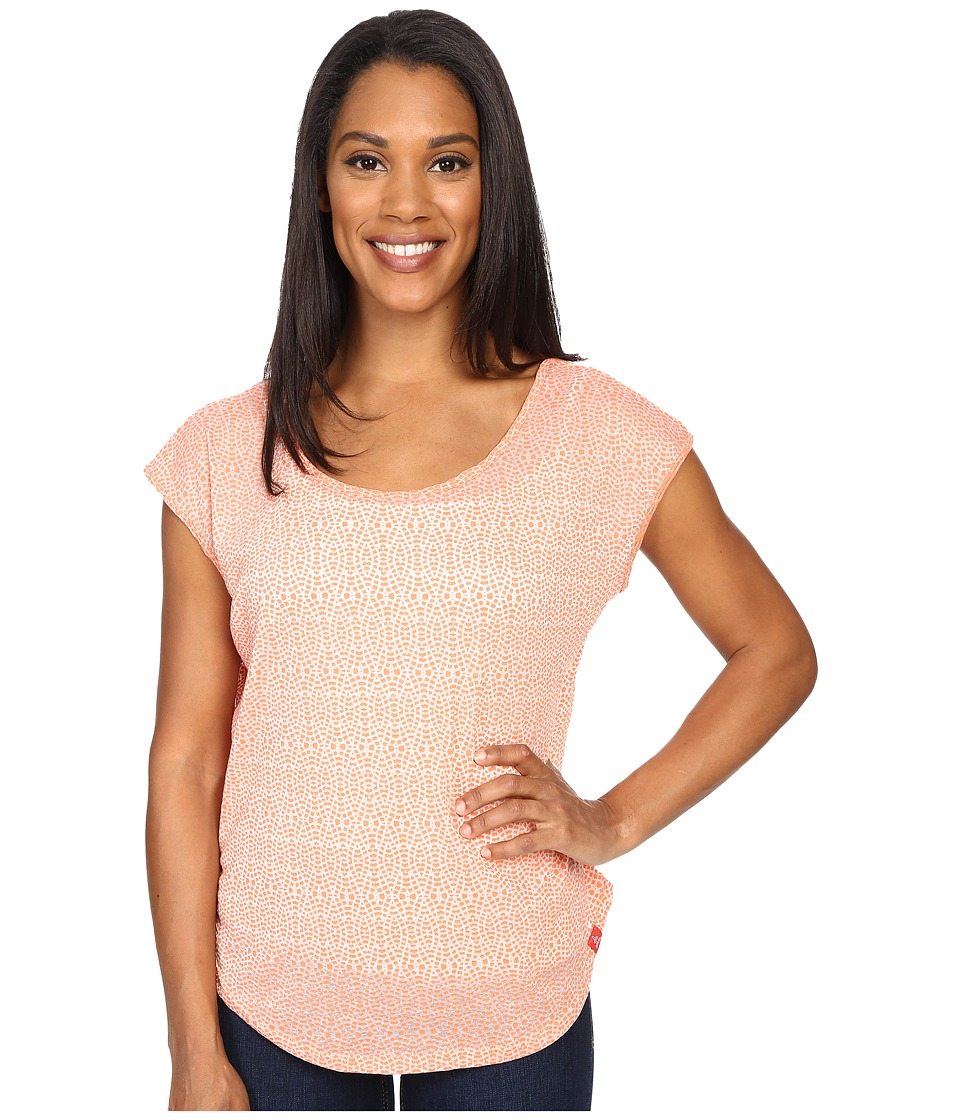 Prana - Tandi Top (Bright Coral) Women's Short Sleeve Pullover