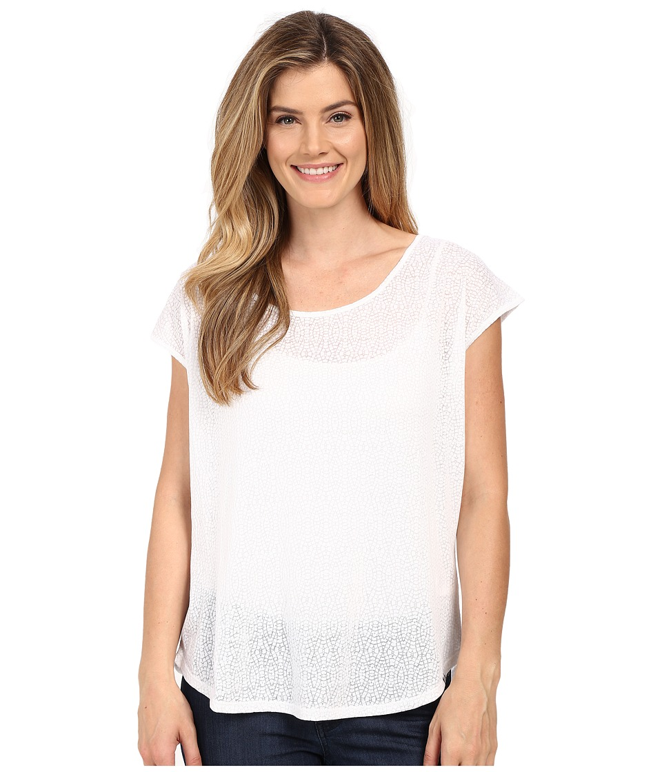 Prana - Tandi Top (White) Women's Short Sleeve Pullover