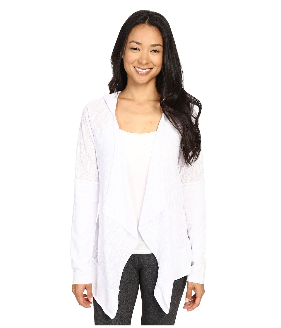 Prana - Graceful Wrap (White) Women's Sweater