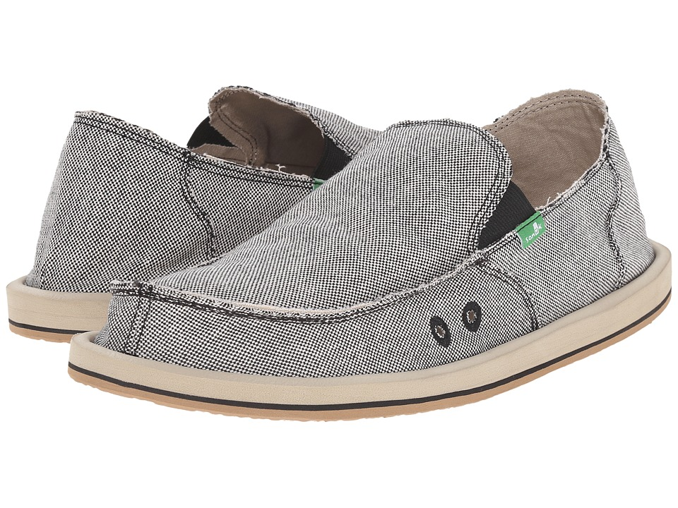 Sanuk - Vagabond TX (Black/Natural) Men's Slip on Shoes