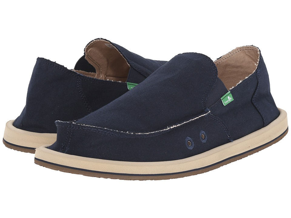 Sanuk - Vagabond (Dark Navy) Men's Slip on Shoes