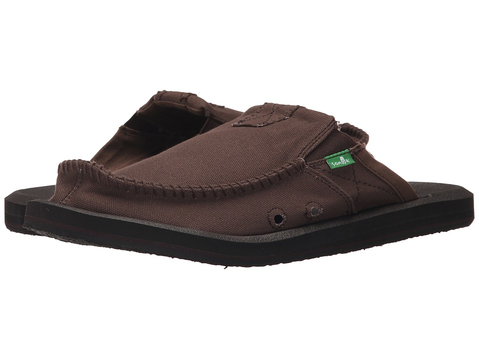 Sanuk - You Got My Back II (Dark Brown) Men's Slip on Shoes