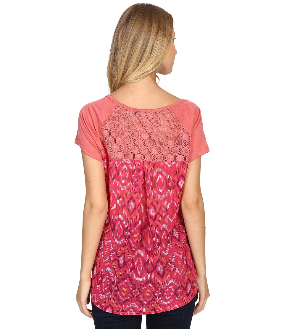 Prana Dina Top (Red Slate) Women's Short Sleeve Pullover