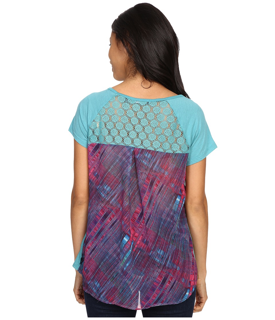 Prana Dina Top (Retro Teal) Women's Short Sleeve Pullover