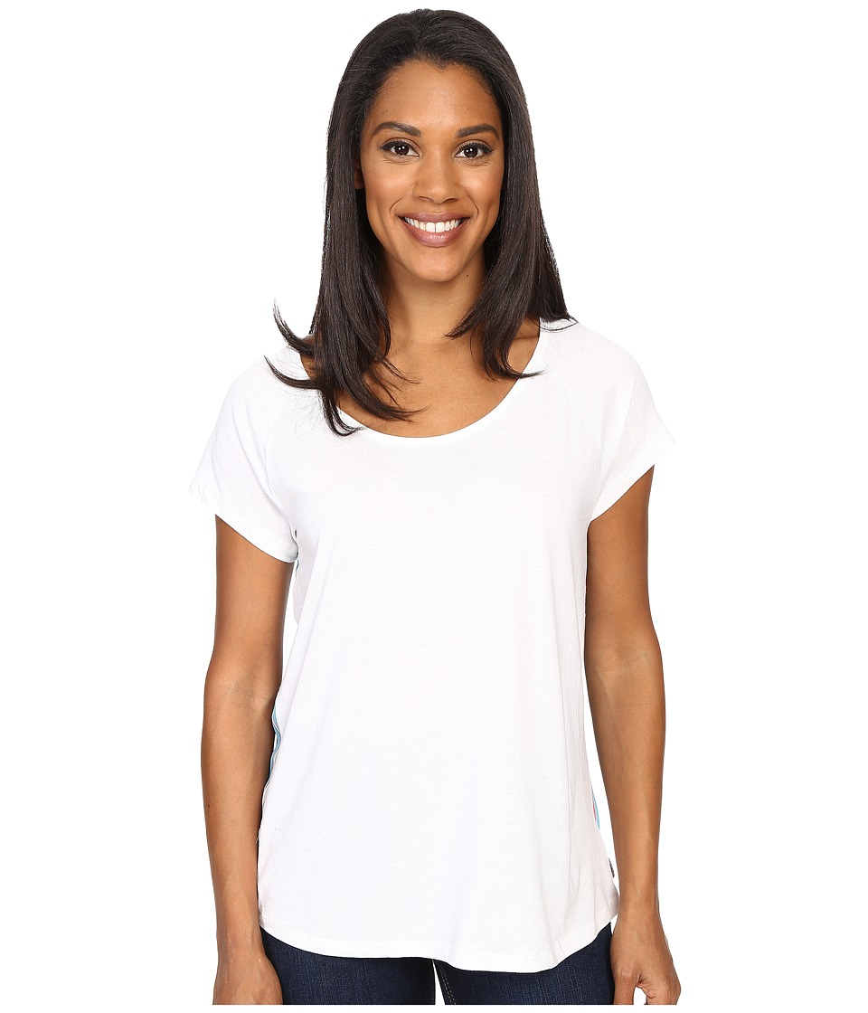 Prana Dina Top (White) Women's Short Sleeve Pullover