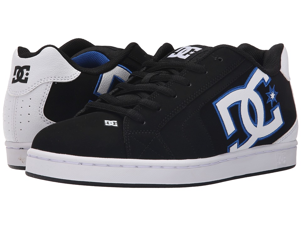 DC - Net (Black/White/Blue) Men's Skate Shoes