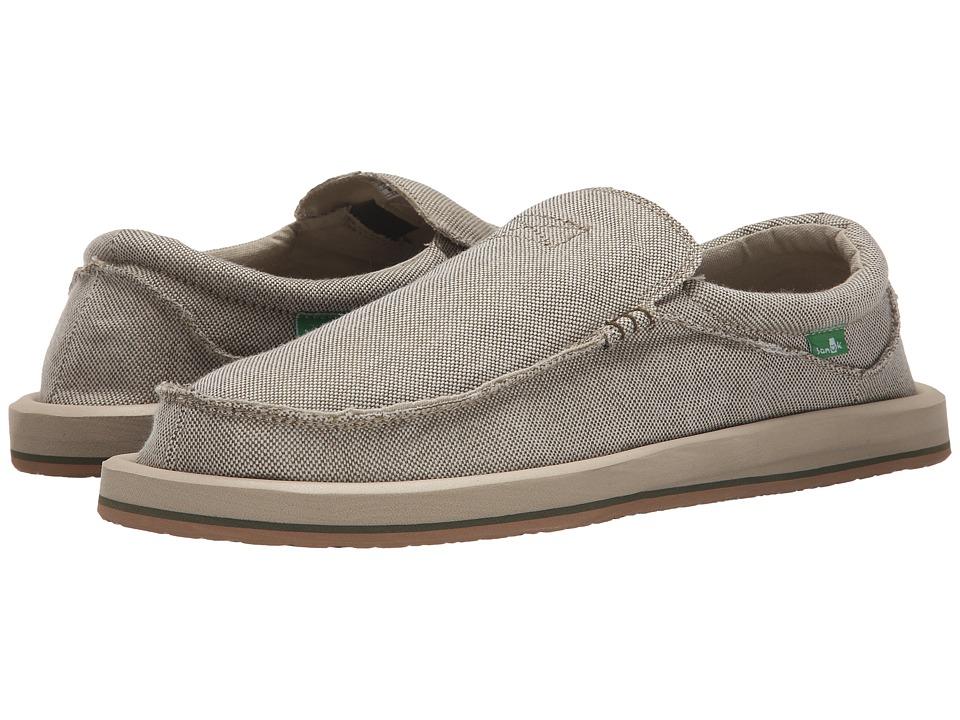 Sanuk - Chiba TX (Olive) Men's Slip on Shoes